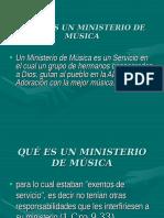 Que Es Un Ministerio de Musica i