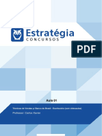 PDF Banco Do Brasil Escriturario Tecnicas de Vendas p Banco Do Brasil Escriturario Aula 01