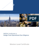 Hedge Fund Operational Due Diligence Master Class