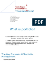 Investment Analysis and Potfolio Management