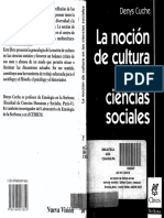 Cuche- La Nocion de Cultura en Las Ciencias Sociales