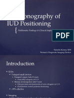 Ultrasonography of IUD Placement