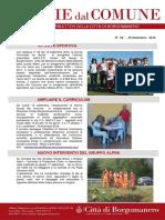Notizie Dal Comune di Borgomanero del 29 Settembre 2016