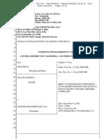 Filed Reply Baroni v Wells Fargo, Nationstar