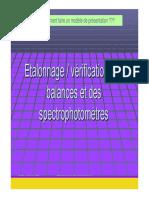 etalonnage Des Instruments de Mesure