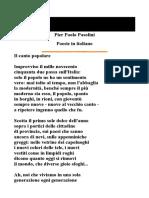 Poesie - Pier Paolo Pasolini
