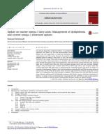 Update on Marine Omega Fatty Acids Management of Dyslipidemia