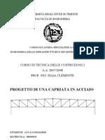 Tecnica Delle Costruzioni 2 - Progetto in Acciaio