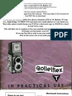 Rolleiflex T Manual