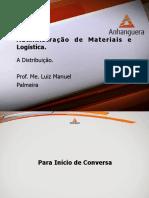 VA Administracao de Materiais e Logistica Aula 8 Tema 8-1