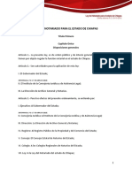 Ley Del Notariado Para El Estado de Chiapas