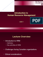 2BC3 2016 Lecture 1 Intro to HR
