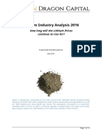 Lithium Industry Analysis 2016