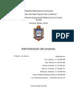 Administracion Del Proyecto. Tema 7