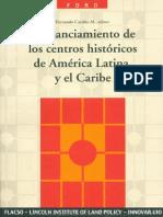 Financiamiento de Los Centros Históricos de América Latina y El Caribe