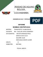 Bomba Centrífuga Informe o.