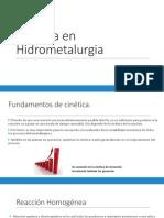 Cinetica en Hidrometalurgia