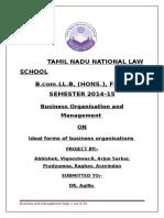 Business Organisation & Management 1st Semester