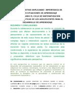 Texto Expositivo Explicando Importancia de Diseñar Situaciones de Aprendizaje Considerando El Ciclo de Matematización