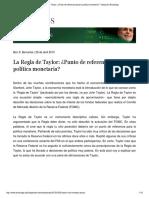 Bernanke, B. - La Regla de Taylor. Un Punto de Referencia Para La Política Monetaria