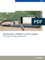 Choosing a Water Level Logger
