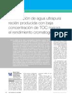Articulo La Utilizacioacuten de Agua Ultrapura Recieacuten Producida Con Baja Concentracioacuten de Toc Www.lifescienceslab.com