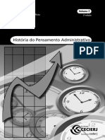 História Do Pensamento Administrativo - Volume 2
