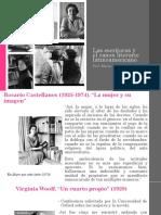 Las Escritoras y El Canon Literario Latinoamericano