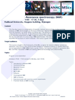 MSc+ Fact Sheet - Summer Course Nuclear-Magnetic-Resonance Spectroscopy v20160310KNCV