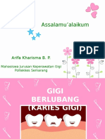 PPT Penyuluhan Karies Gigi By Arifa