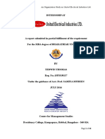 An Organizational Study in United Electrical Industries, Kollam, Kerala
