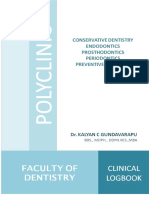 Bachelor of Dental Surgery Clinical Logbook