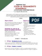 Programa UEA Introducción a la economía