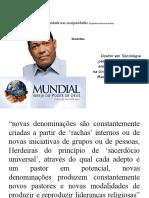 Continuidade Nas Cissiparidades Neopentecostalismo Brasileiro