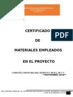 Certificados de Materiales
