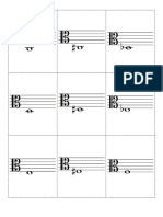Alto Clef Flash Cards With Accidentals