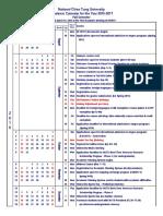 Calendar2016 En NCTU