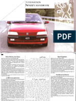 Manual de Usuario Peugeot 405