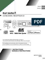 JVC KD-SD631 Manuel d'Utilisation