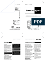 Manual generador Kipor KDE7000TD