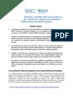 Ops e Alimentos Bebidas Ultra Procesados Obesidad Americalatina