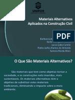 Materiais Alternativos - CONSTRUÇÃO CIVIL