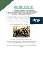 Consecuencuias Culturales de La Primera Guerra Mundial