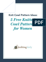 Five Knitted Cowl Patterns
