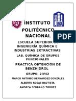 OBTENCIÓN DE BENZHIDROL