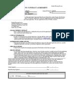 Under 18 Agreement Form