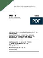 T-REC-G.332-198811-I!!PDF-S