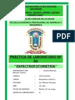 Prac 3 BQ1 PRÁCTICA DE LABORATORIO Nº 03 ''ESPECTROFOTOMETRÍA''