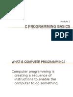 C Programming Module 1 C Programming Basic