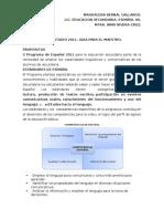 Analisis Del Plan de estudios 2011